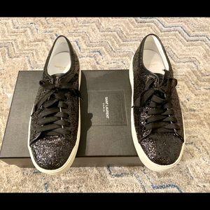 Saint Laurent Court glitter sneaker with orig box